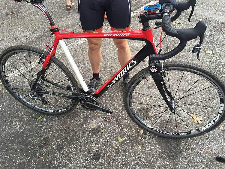Sweet bike, noticed the rear triangle is similar to the roubaix.