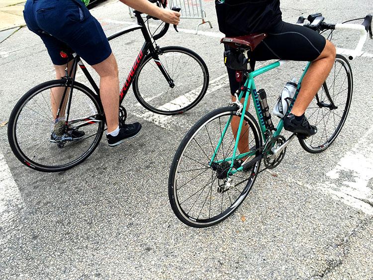 Bianchi with Brooks saddle.