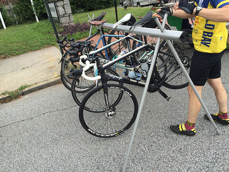 The Atlanta Bicycle Coalition is always great about providing bike parking at events throughout Atlanta, like the Candler Park or at VAHI Summerfest.