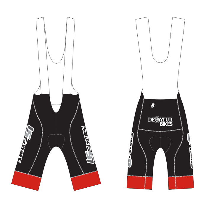 Velocity bib shorts design.