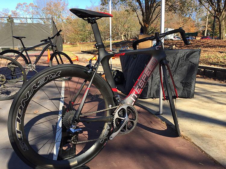 Litespeed showing off their sweet road bike. Just looks FAST.
