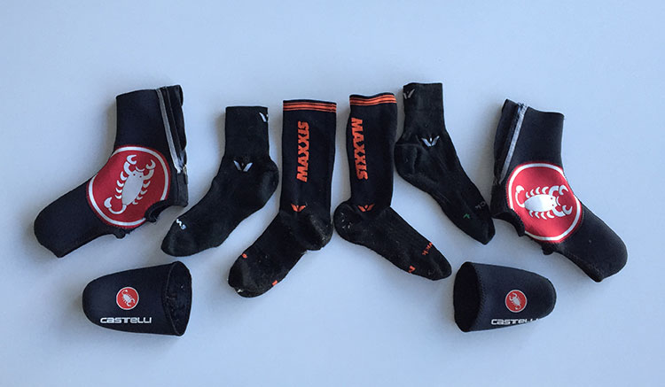 Winter wool sock, extra long sock, toe covers and shoe covers.