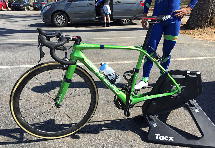 Pro team Team Arapahoe Resources was rocking this Garneau bike - didn't know you could get a Garneau bike ...