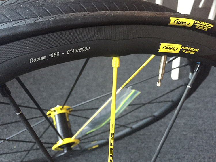 Nice graphic details on the 125th anniversary wheelset by Mavic.