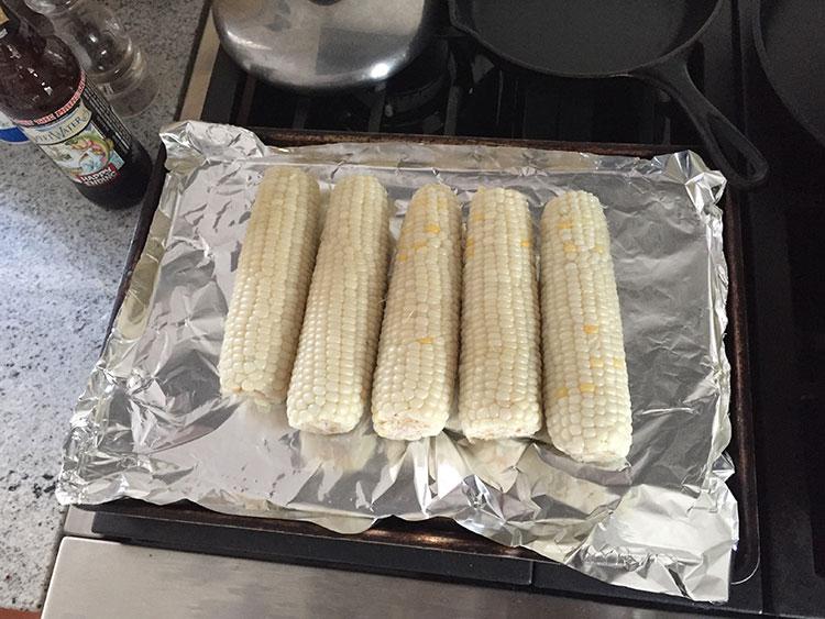 Local corn on the cob.