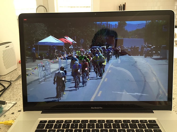 Loved being able to watch my teammates compete on the live feed from Sunny King Criterium in Aniston, AL.