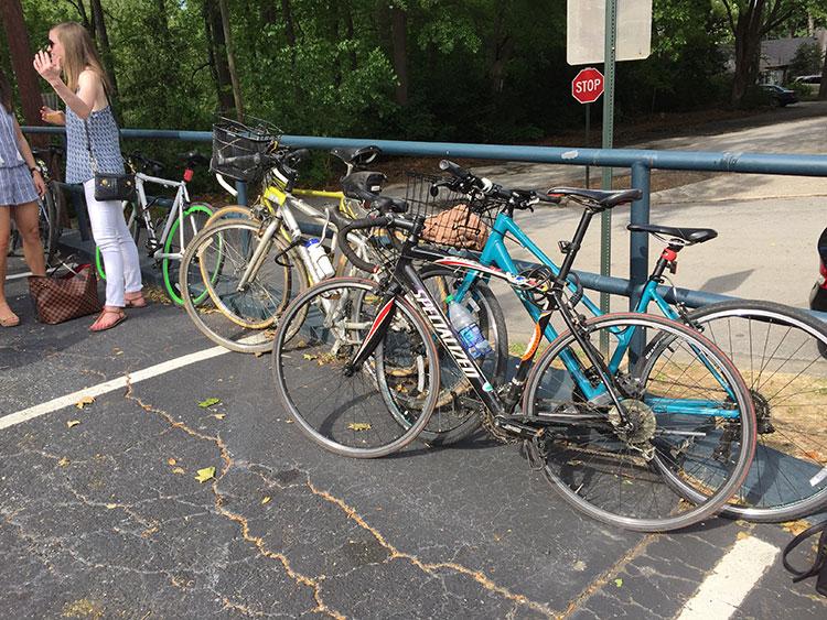Bikes at Orpheus brewery.
