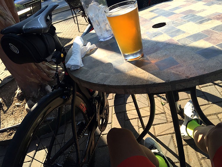 Nice cold Sweetwater after a pleasant day of riding.