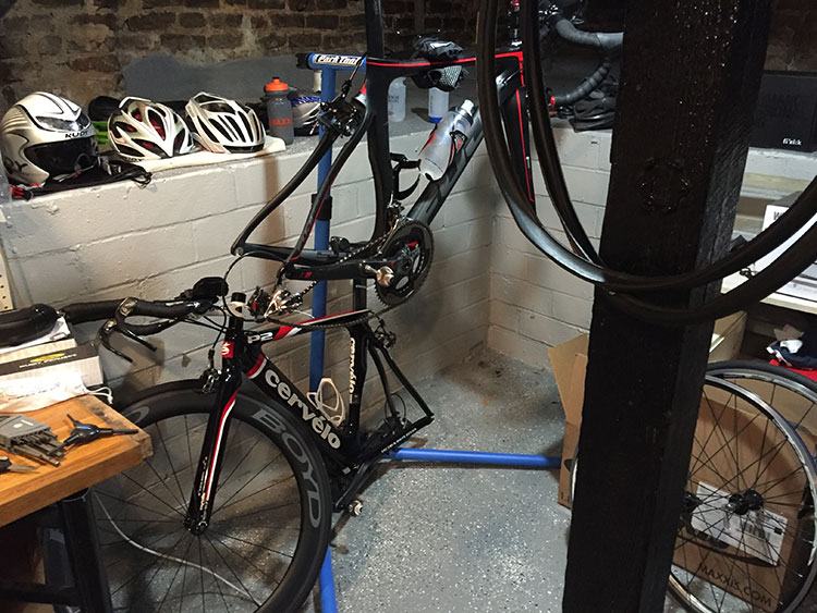 There was a period of two weeks that were just flats galore. Both road bikes out of commission at the same time. UUUGH.