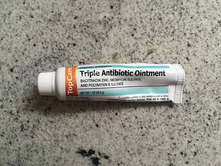 Store brand antibiotic cream I bought to treat saddle sores at the beach. Winn Dixie, I believe.