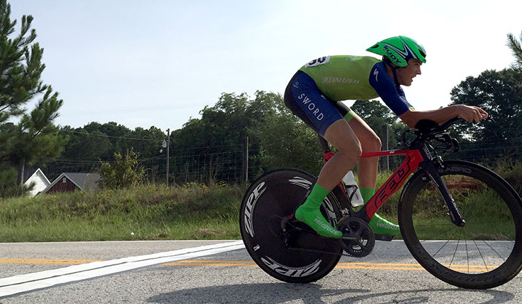 TT bike lunge.