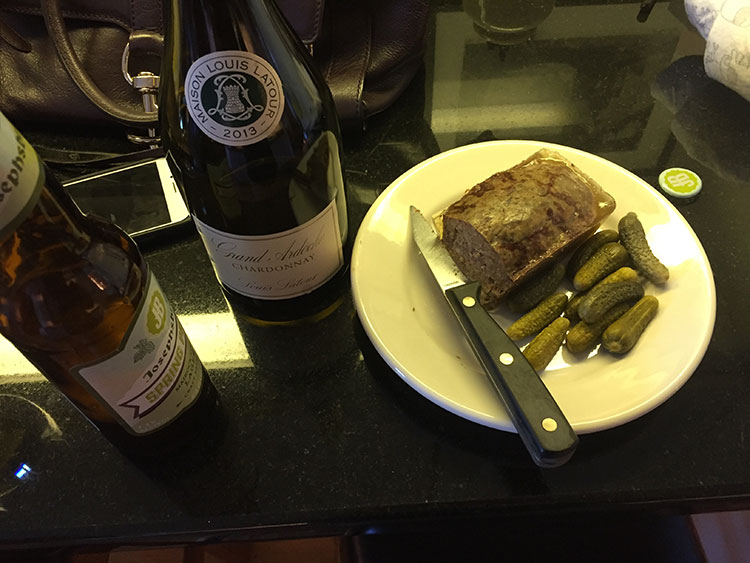 I'm half French, which means dinner at my parents often enough starts with pâté and cornichons.