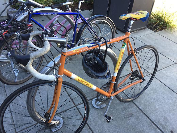 This bike on Bainbridge Island caught my eye. Davidson.