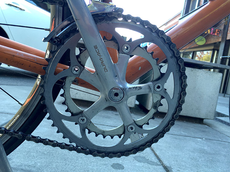 Interesting - campy BB in the DURA-ACE crankset