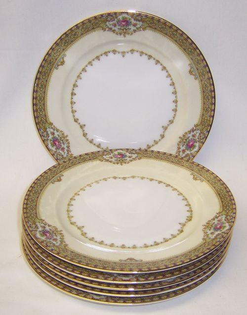 Gold rim dessert plates $6/ea.