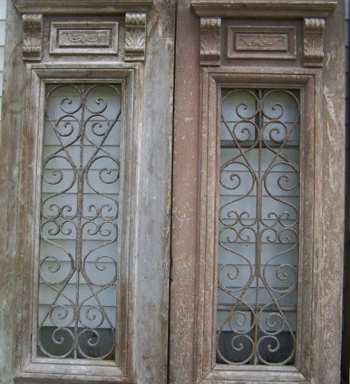 Iron Scroll Doors $65/pair