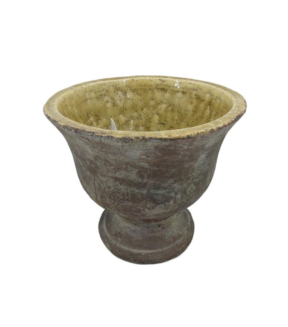 Footed Stone Vessel $6/ea.