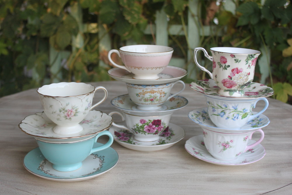 Assorted Tea Cups & Saucers $4/set