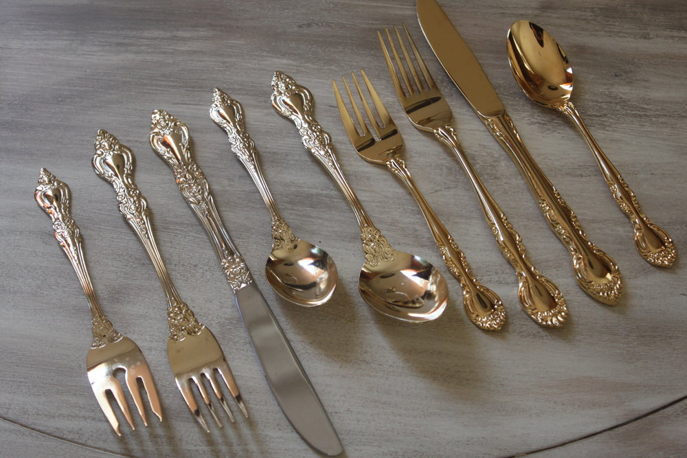 Vintage Gold Flatware $2/piece