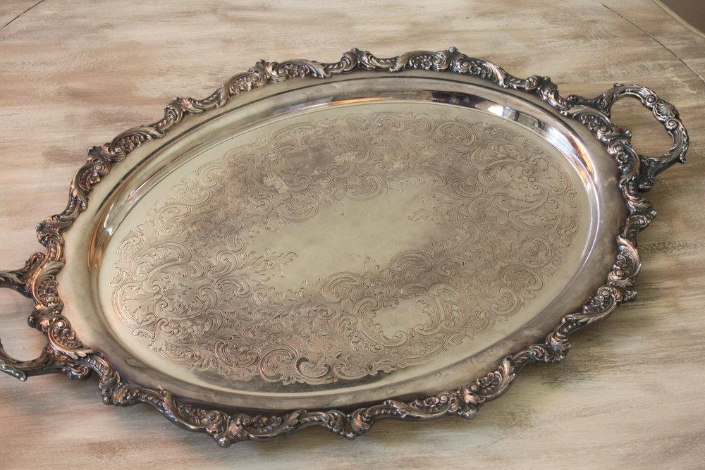 Bristol Silver Tray $15