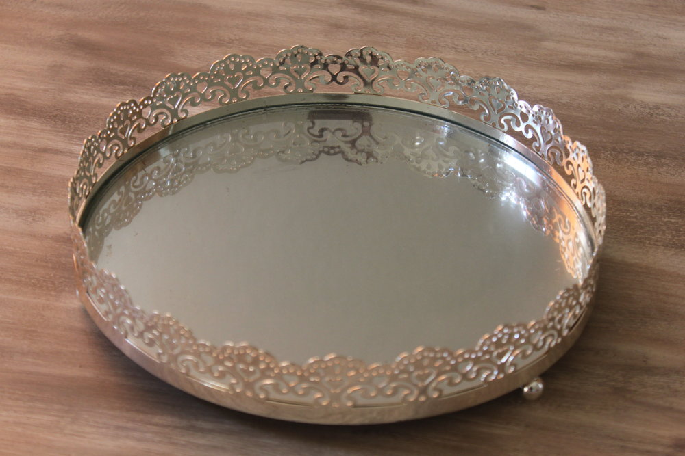 Lilly Mirrored Tray $6