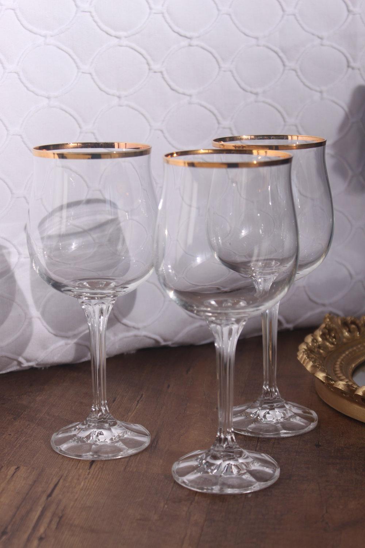 Gold Rim Crystal Goblets $4/ea.