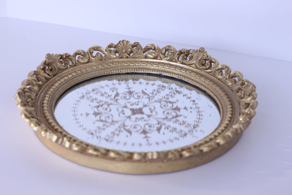 Gold mirrored Tray $5/ea.