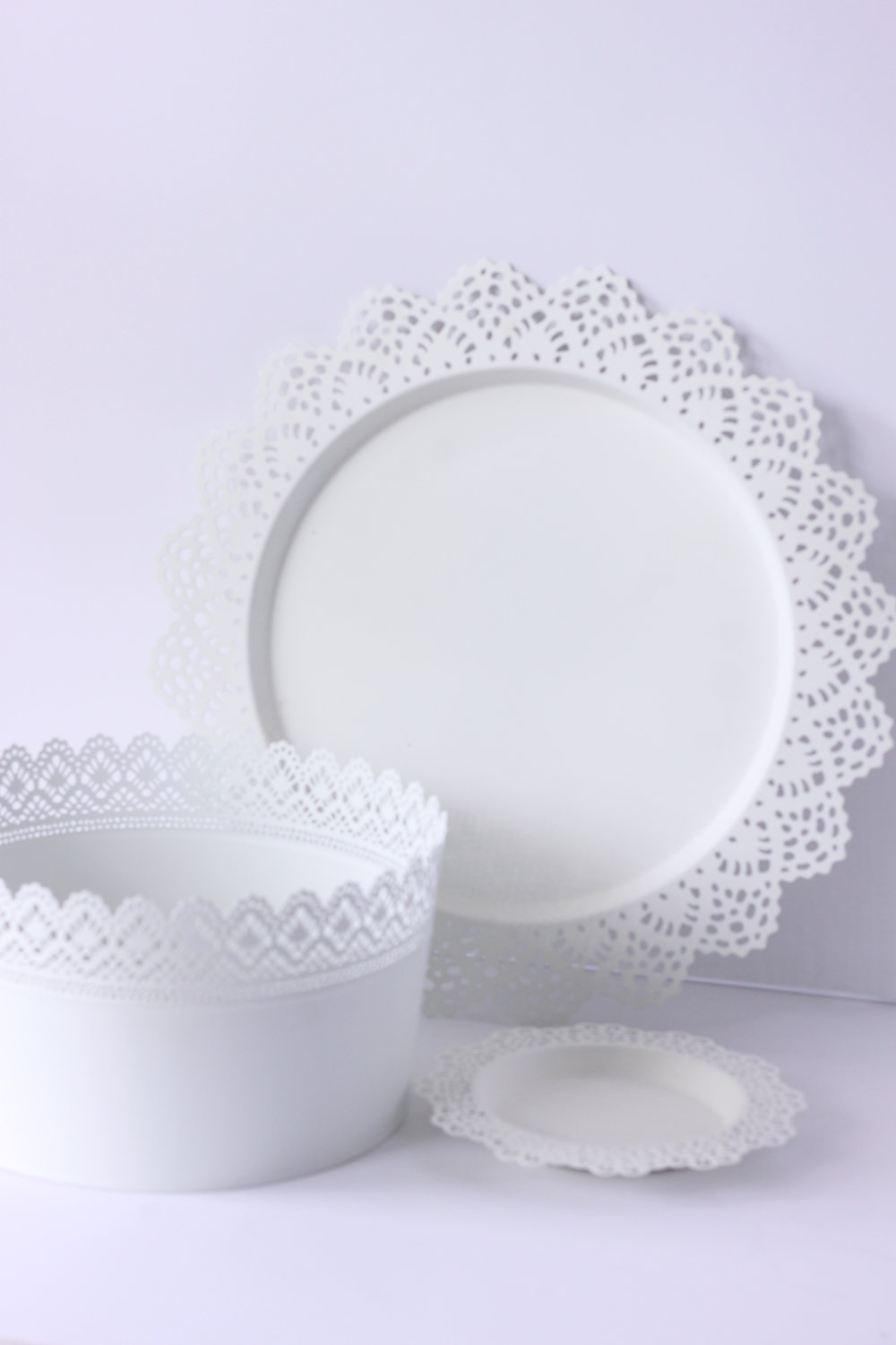 Openwork Lace Tray $4/ea.