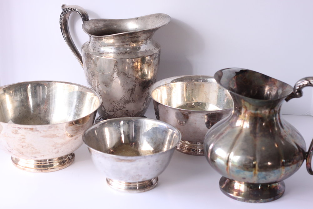 Silver Serving Pieces $6-$10/ea.
