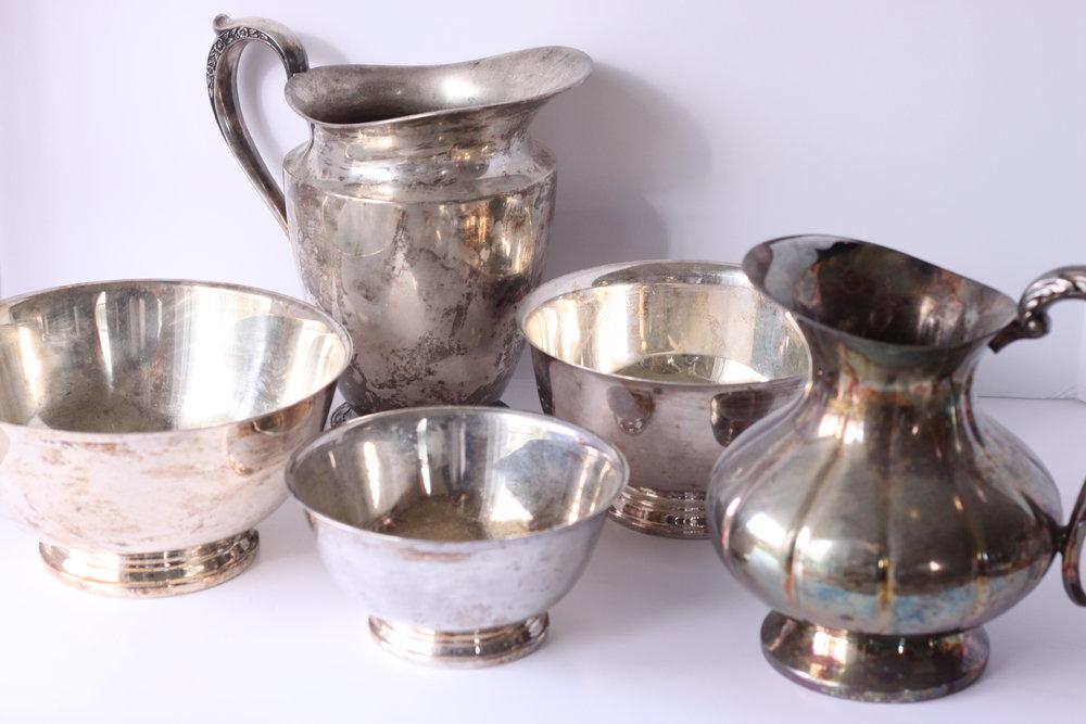 Silver Serving Pieces $6-$10/ea.