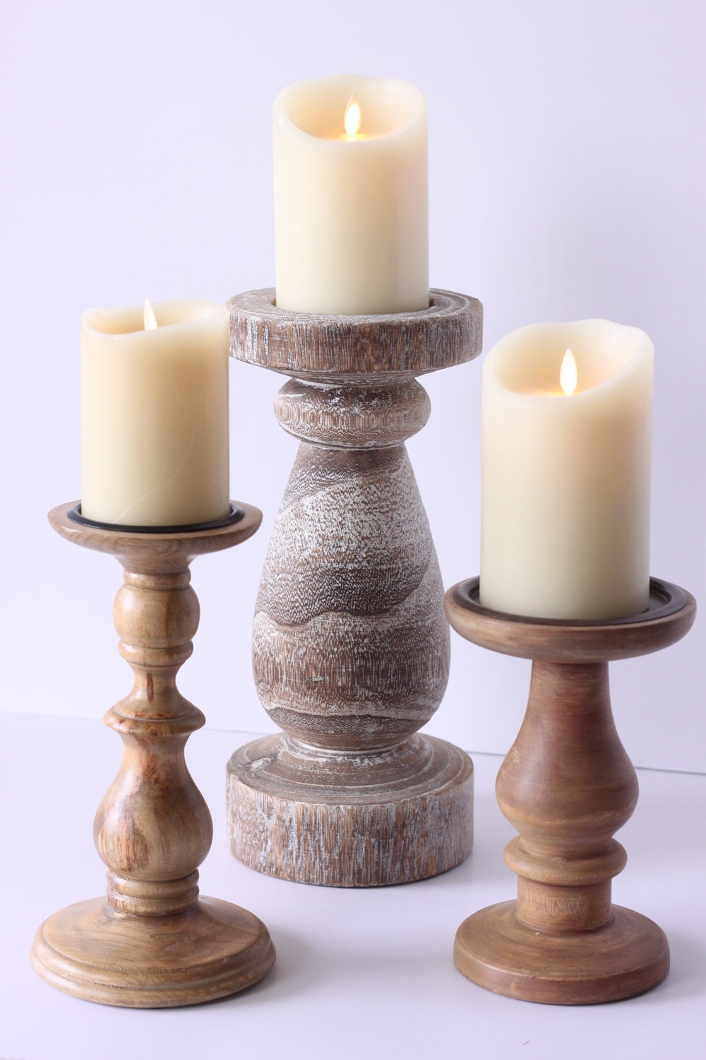 Copy of Assorted wood candle holders $5-$8/ea.