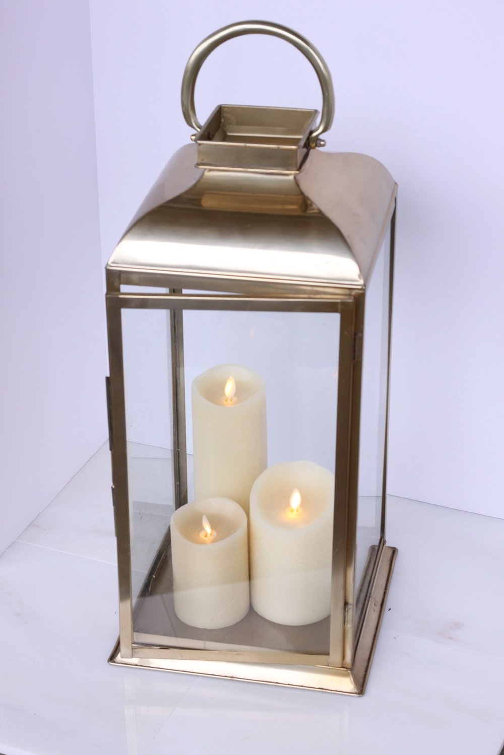 Copy of Brass Lantern with candles $45/ea.