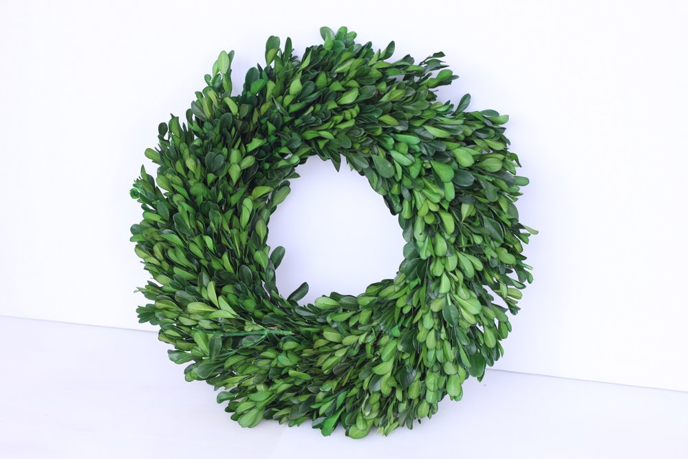 Boxwood Wreath Sm. $3/ea. Lrg. $6/ea.