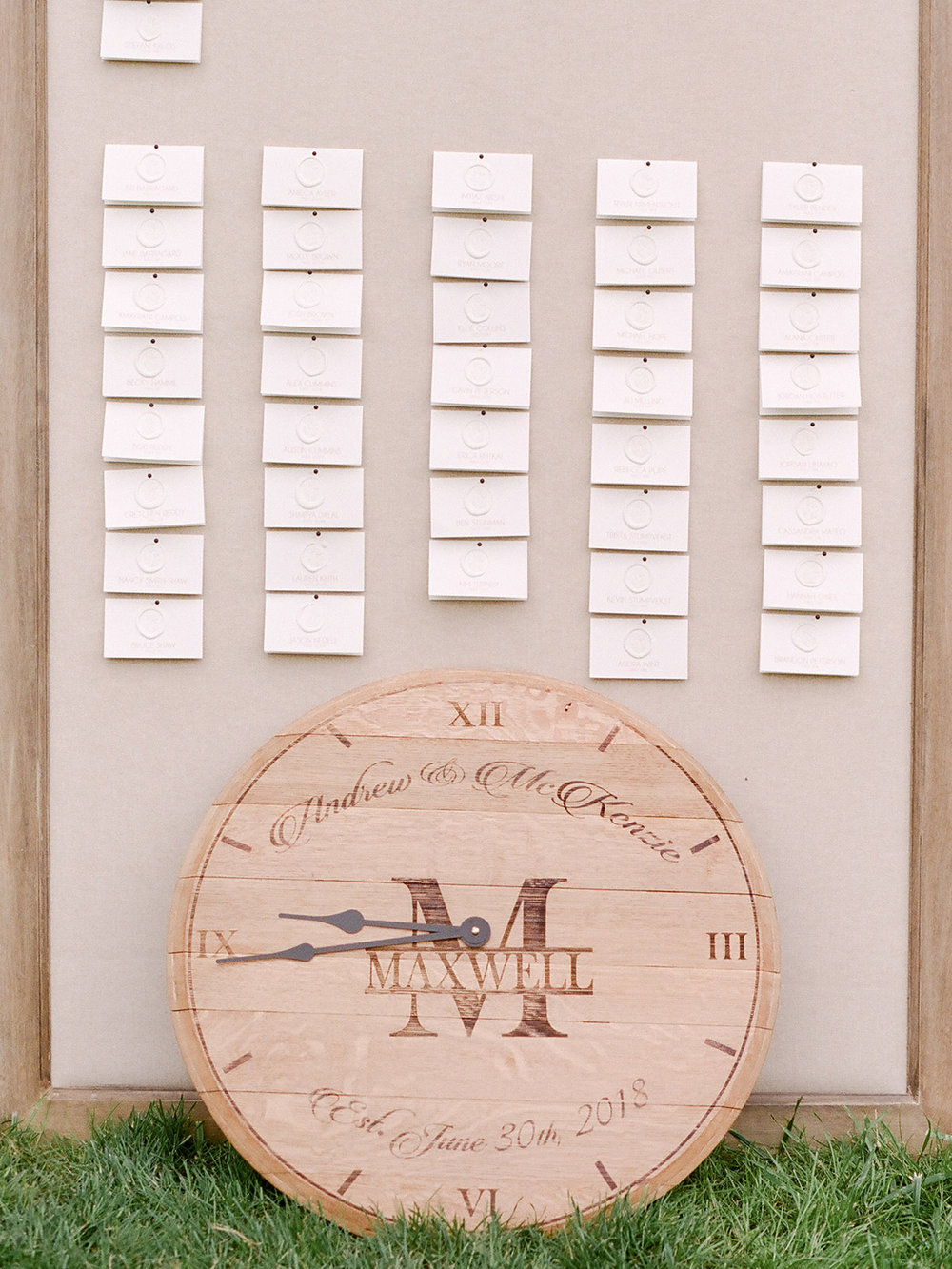 Linen Escort Card Board $35