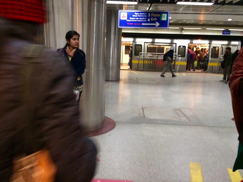 This photo doesn't do justice to the crowds I have to navigate in the Delhi metro every day. Still, it's a pretty comfortable commute.