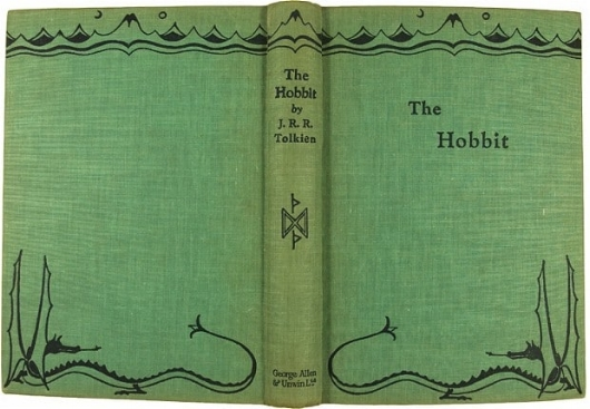 - Cover of the 1937 first edition, from a drawing by Tolkien