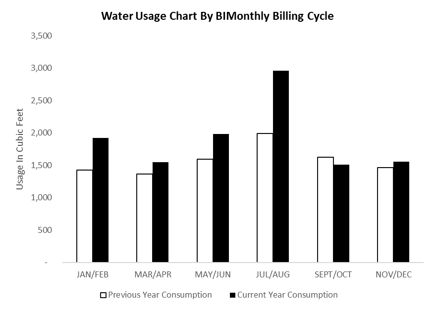 Figure 1: Original Water Bill