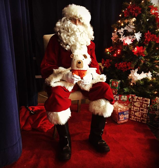Strizie just met a very kind man with a long white beard. 🎅 #santaclaus #bearigworld #strizie #bearig #beariggoodday
