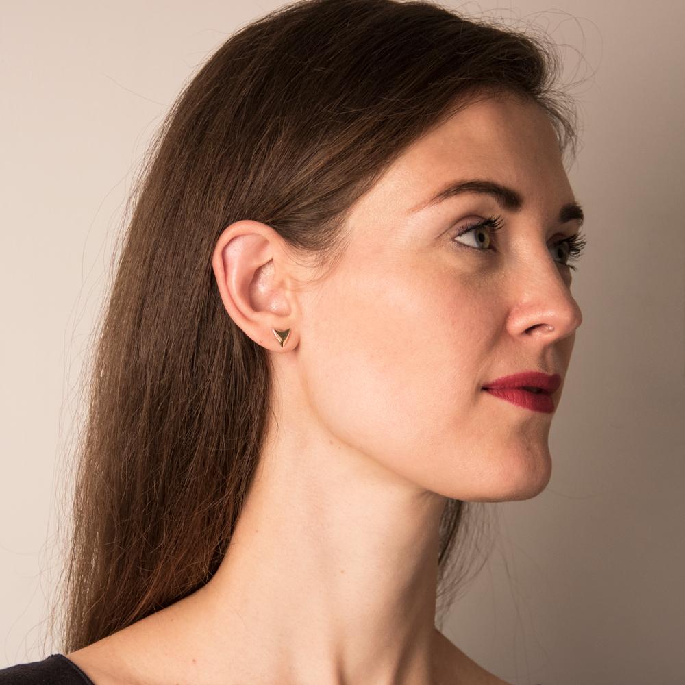 "ear studs ""ANNE"" size: 1cm x 1cm"