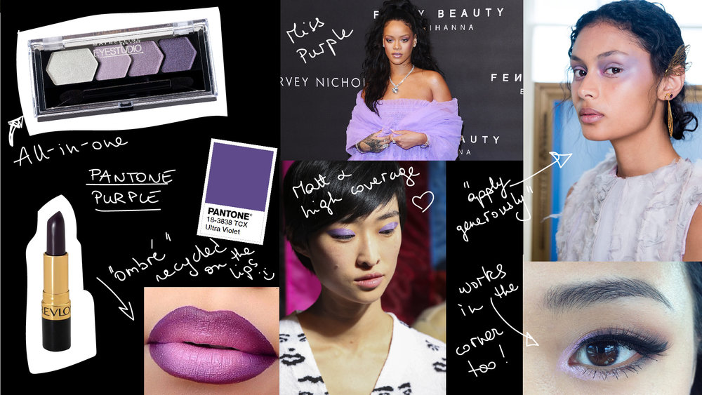 "Pantone purple: it is the ""color of the year"" & already on lips, eyes or clothes, matte or shiny!"