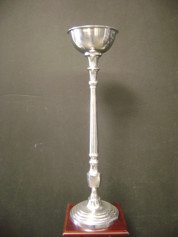 Tall silver riser