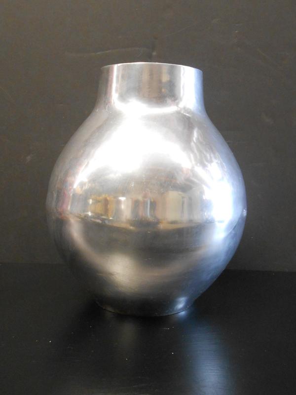 Round Nambe vase