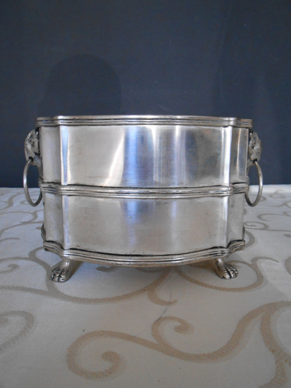 Medium footed silver bowl