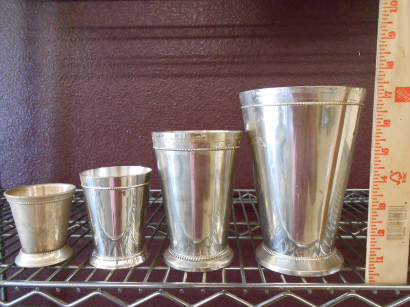 Silver mint julip cups
