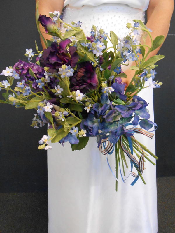 Wild flower and forget me not bouquet