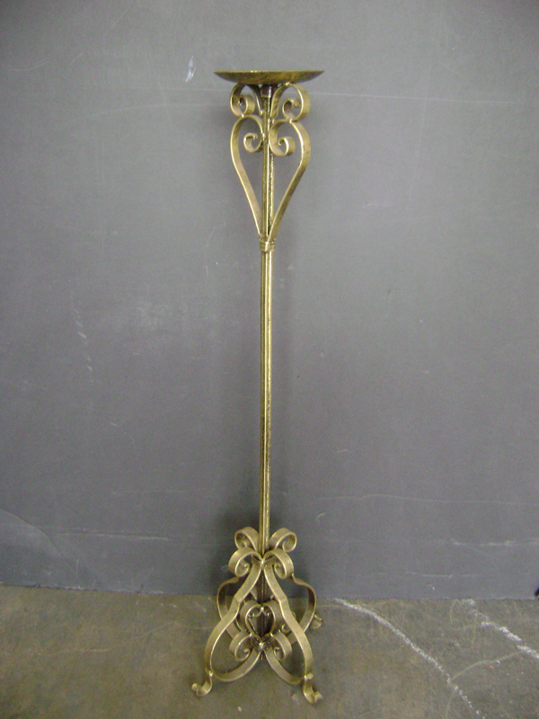 Brass tall candleabra