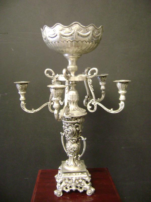 Silver Parisian candelabra