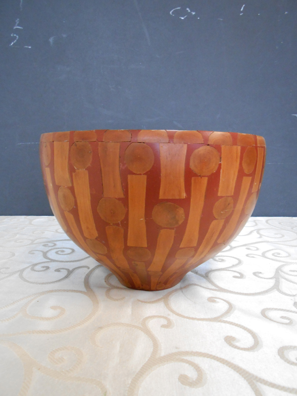 Inlaid wood bowl