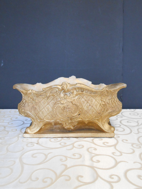 Oblong ornate mantel bowl