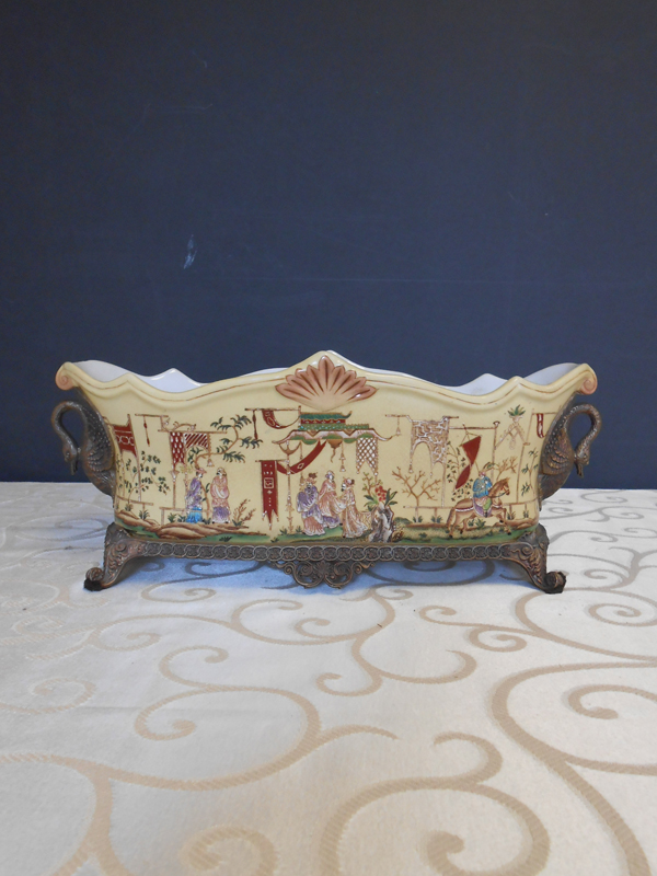 Oblong footed Asian Ceramic